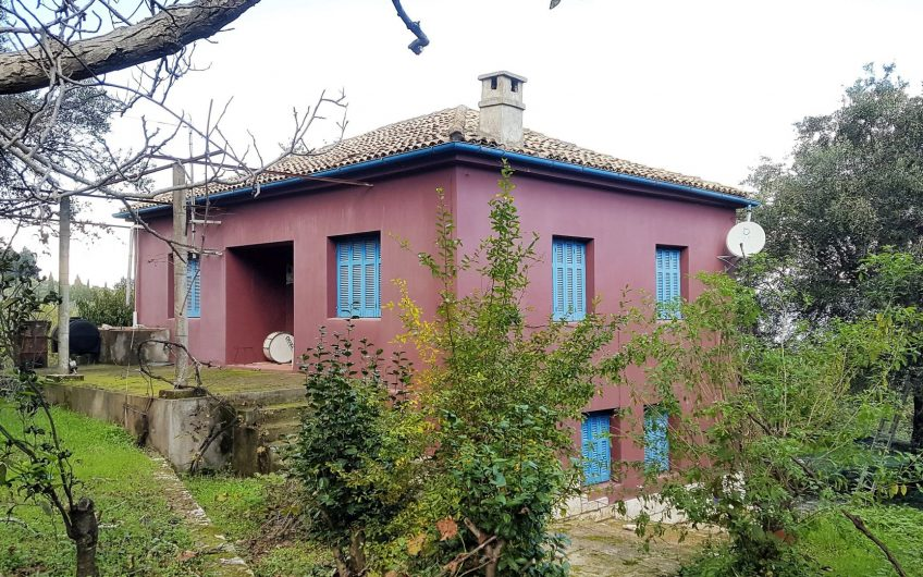 House of traditional Corfiot architecture